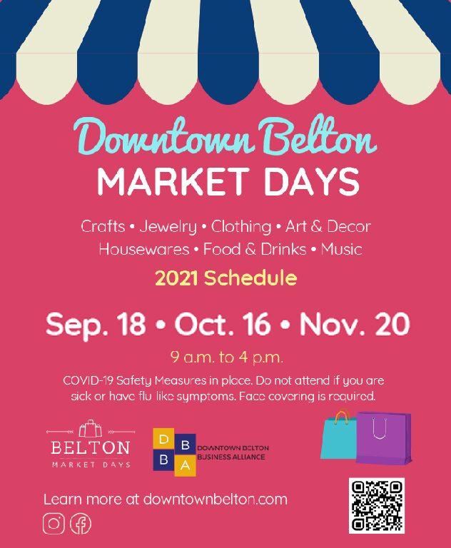 "Market Days ""long-standing Belton tradition!"""